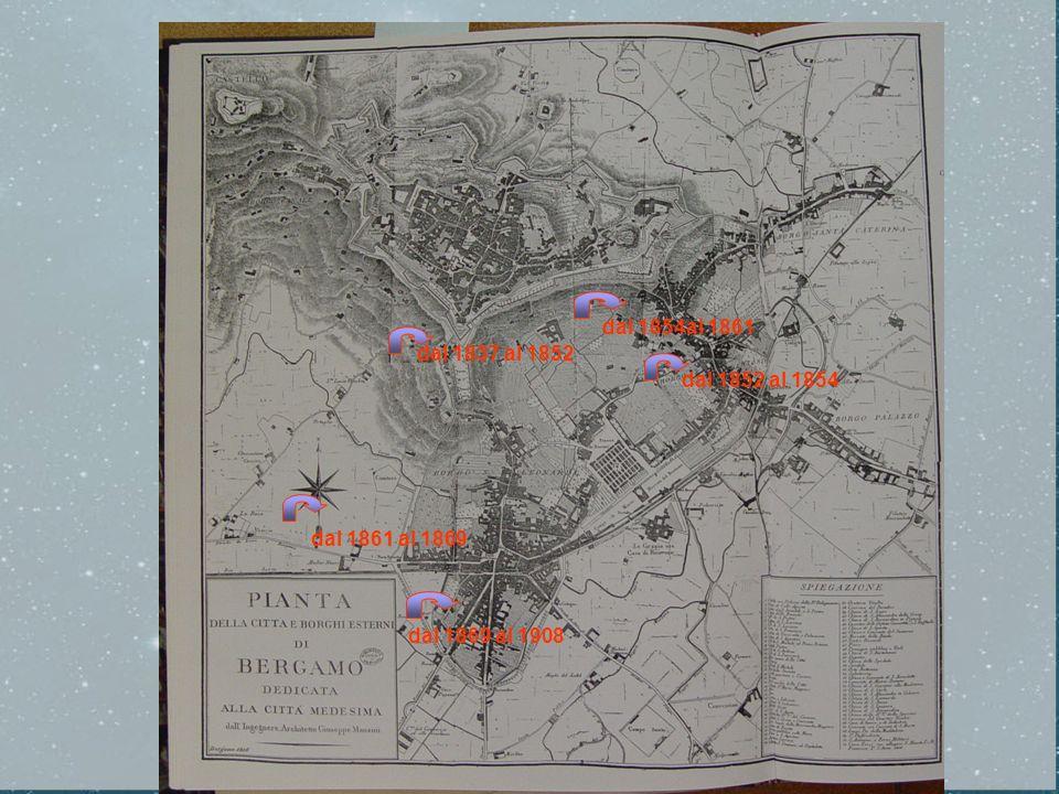 dal 1854al 1861 dal 1837 al 1852 dal 1852 al 1854 dal 1861 al 1869 dal 1869 al 1908