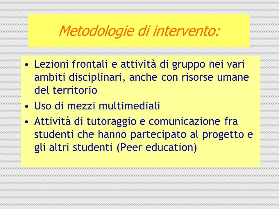 Metodologie di intervento: