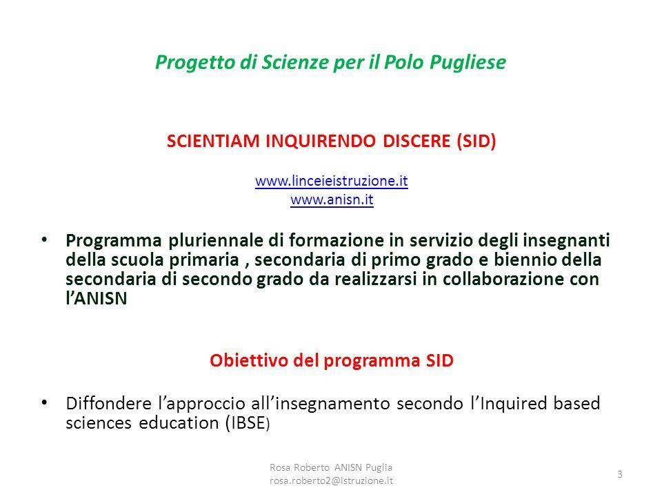 Progetto di Scienze per il Polo Pugliese