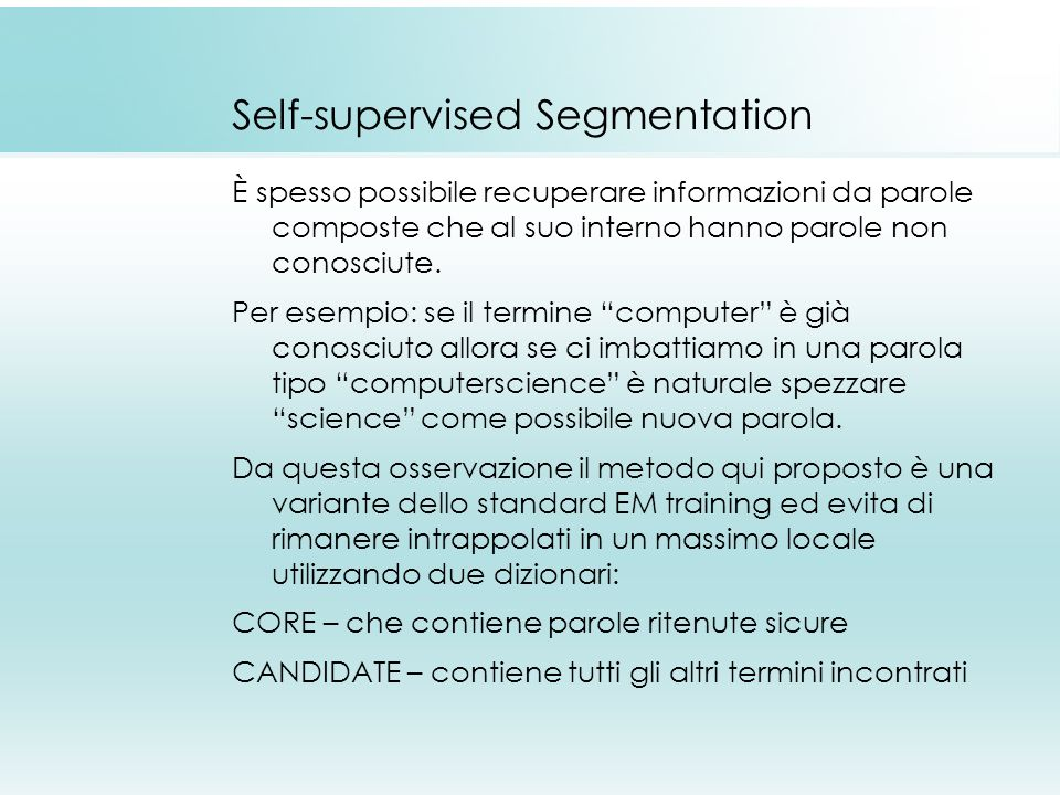 Self-supervised Segmentation