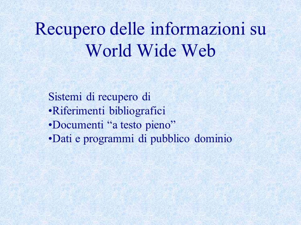Recupero delle informazioni su World Wide Web