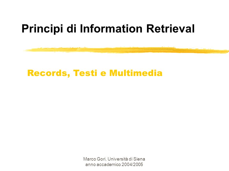 Principi di Information Retrieval