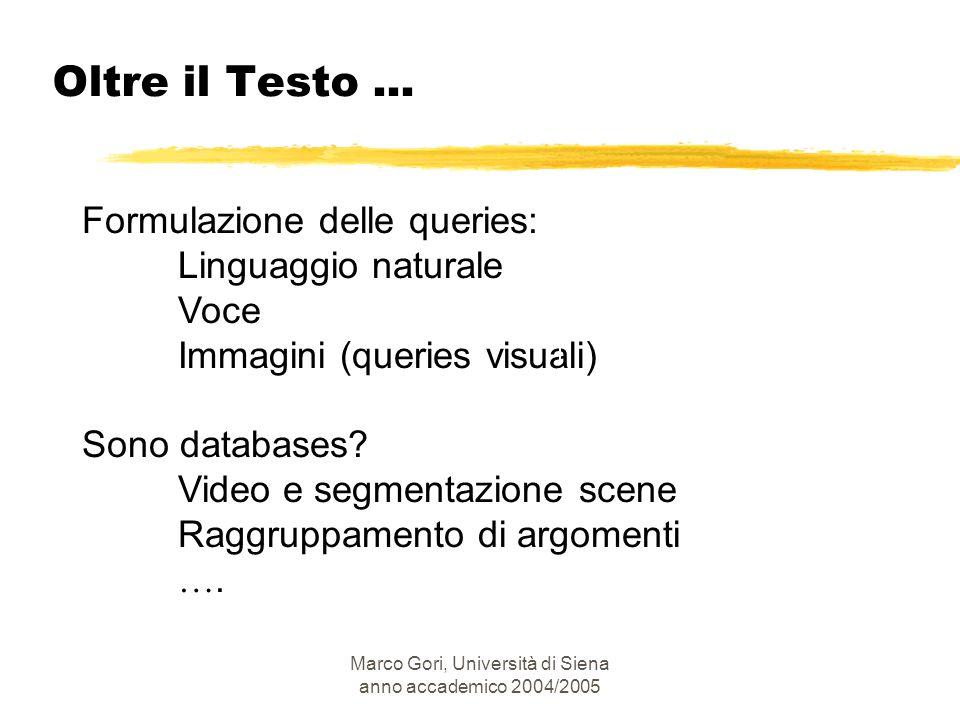 Marco Gori, Università di Siena anno accademico 2004/2005