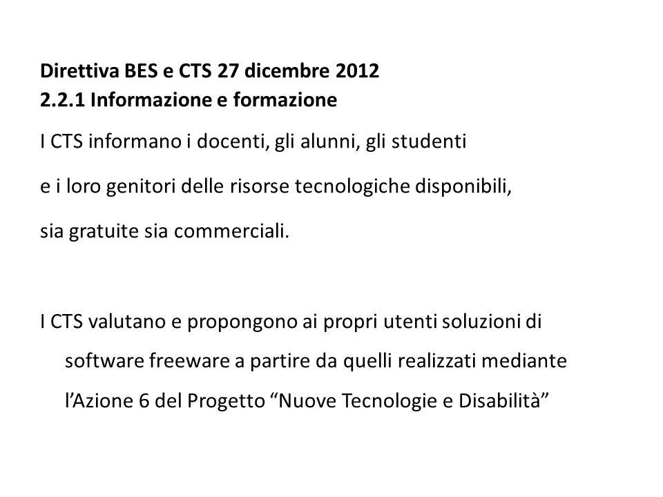 Direttiva BES e CTS 27 dicembre 2012