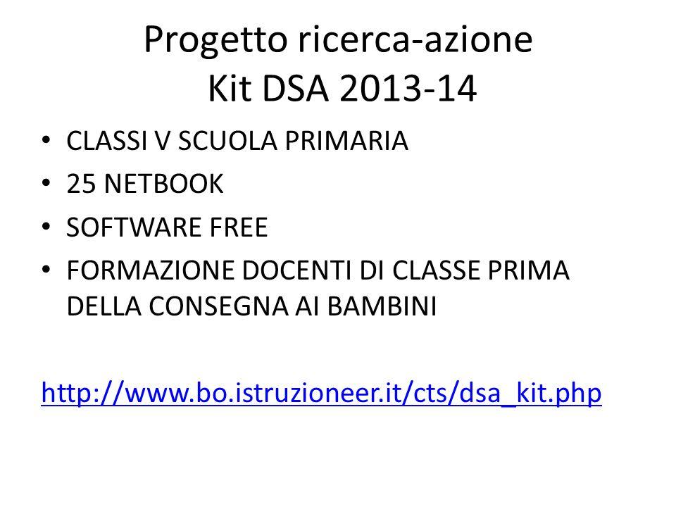 Progetto ricerca-azione Kit DSA 2013-14