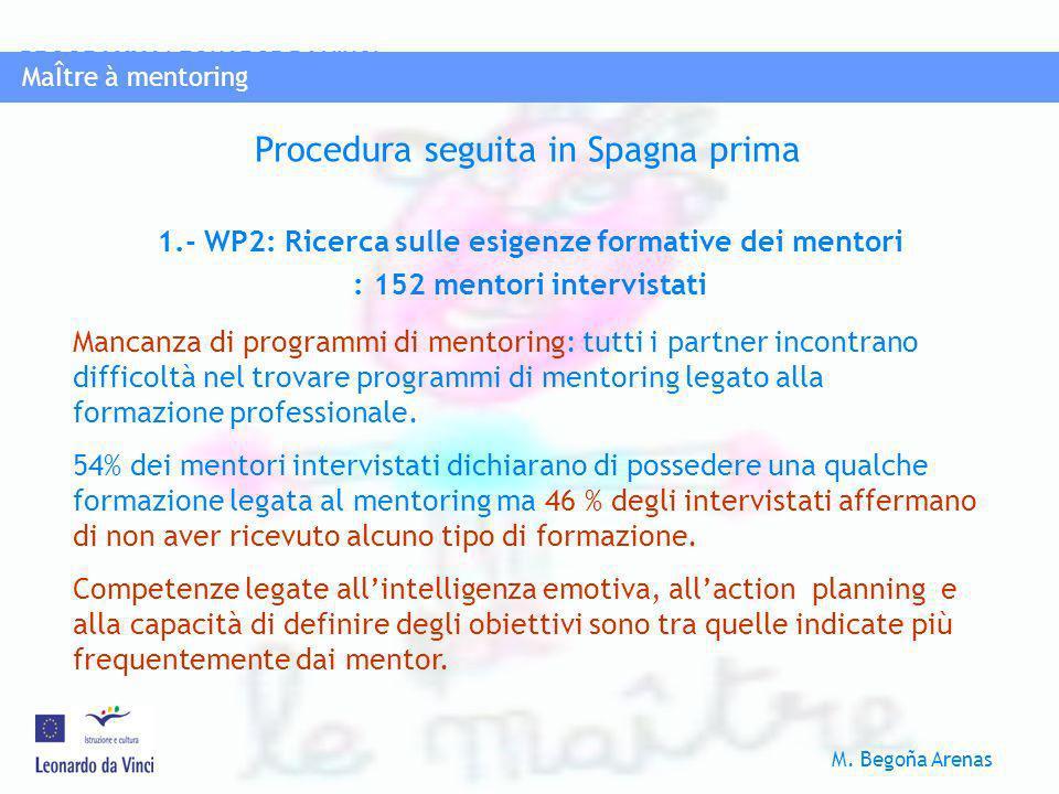 Procedura seguita in Spagna prima