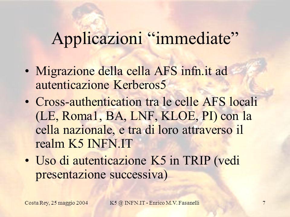 Applicazioni immediate