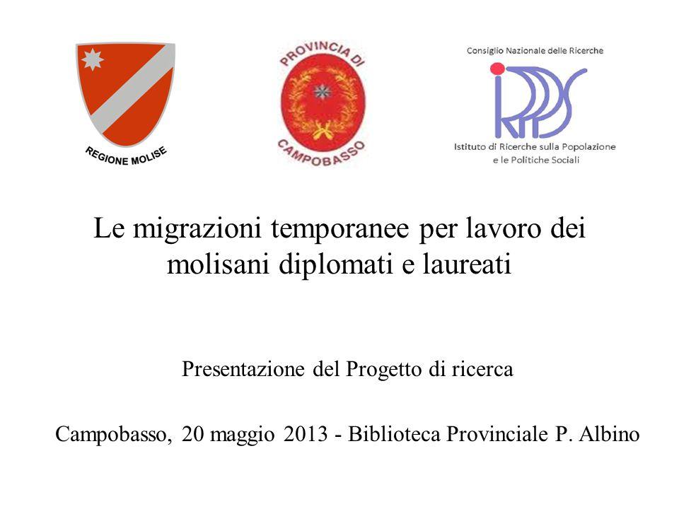 Le migrazioni temporanee per lavoro dei molisani diplomati e laureati