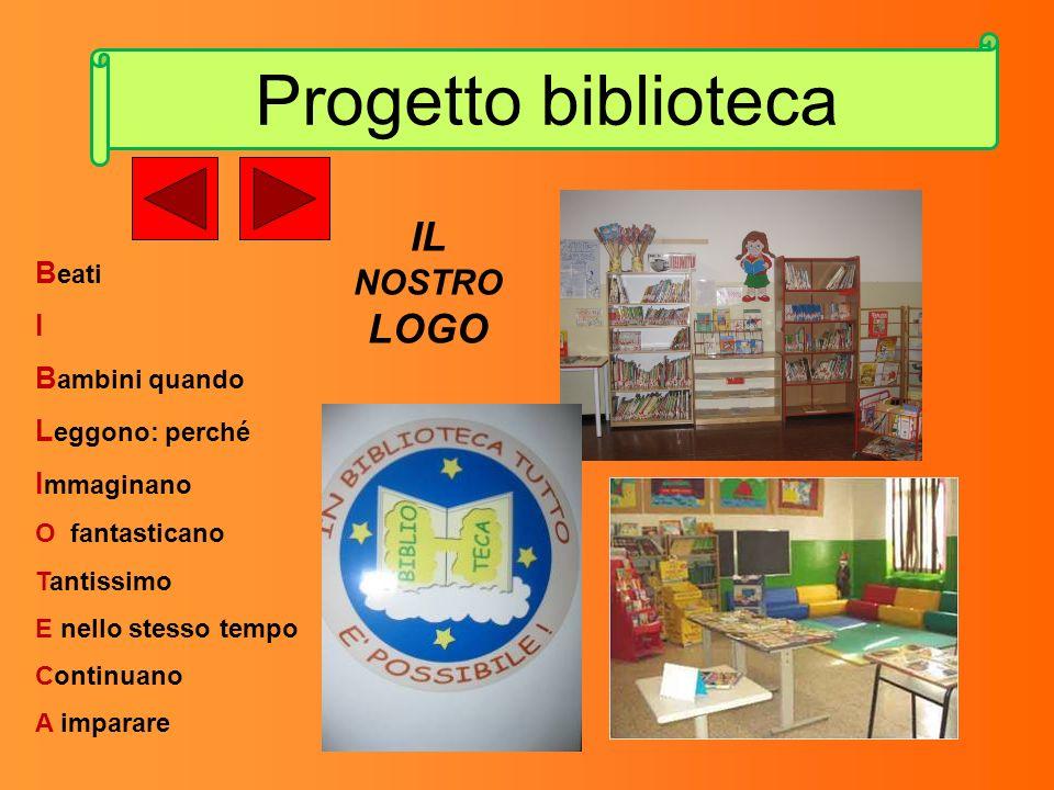 Progetto biblioteca IL LOGO NOSTRO Beati I Bambini quando