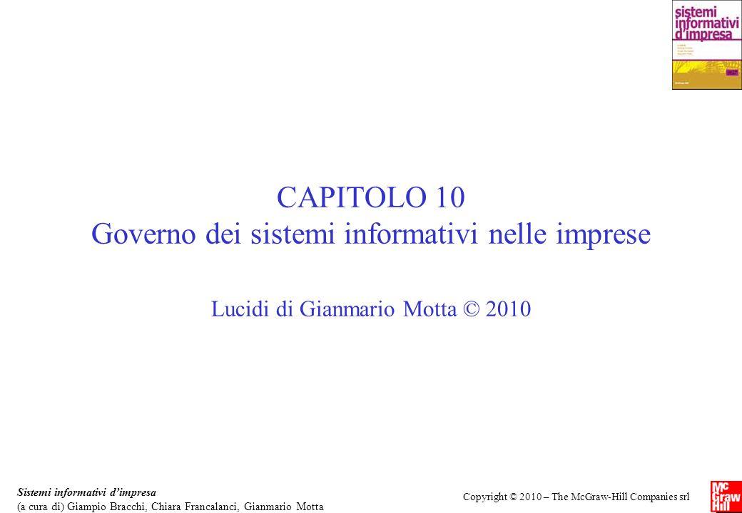 CAPITOLO 10 Governo dei sistemi informativi nelle imprese
