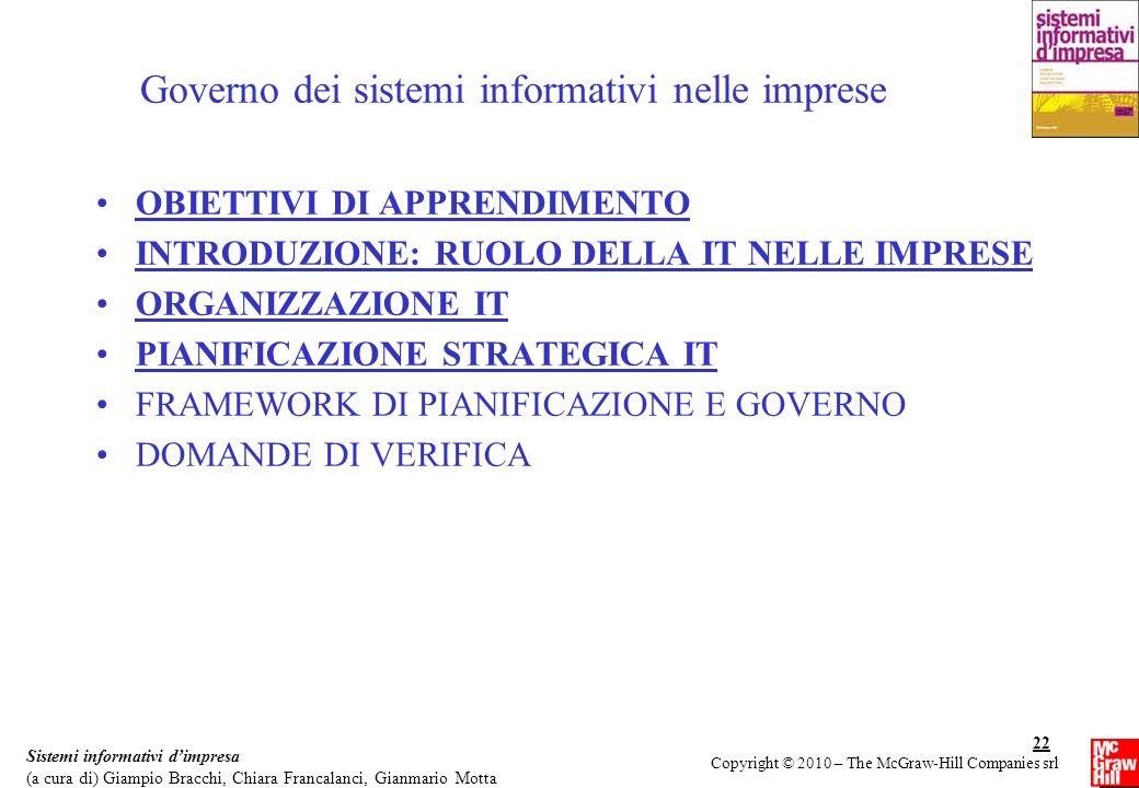 Governo dei sistemi informativi nelle imprese