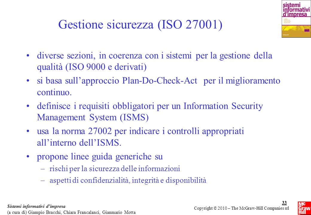 Gestione sicurezza (ISO 27001)