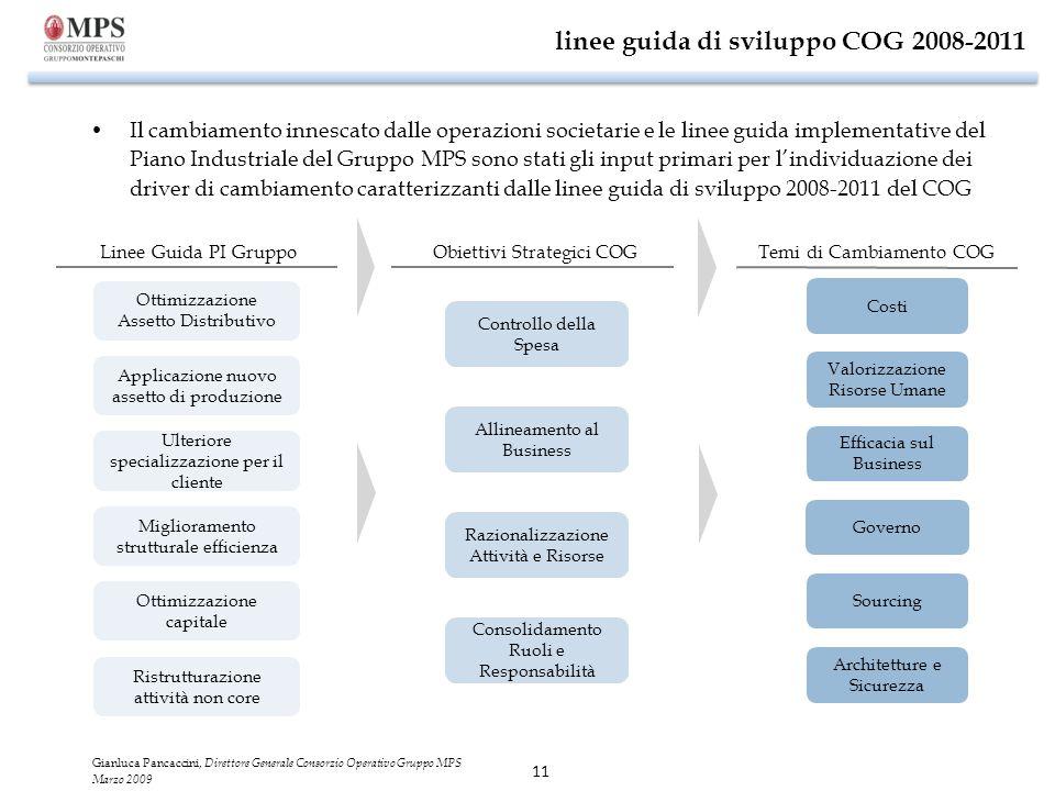linee guida di sviluppo COG 2008-2011