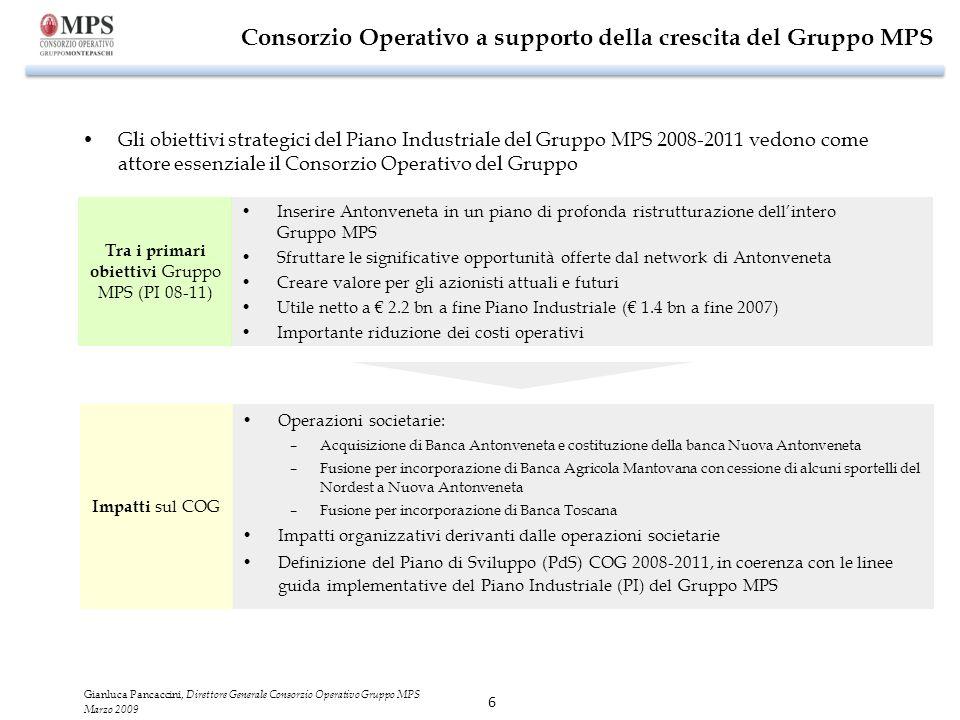 Consorzio Operativo a supporto della crescita del Gruppo MPS