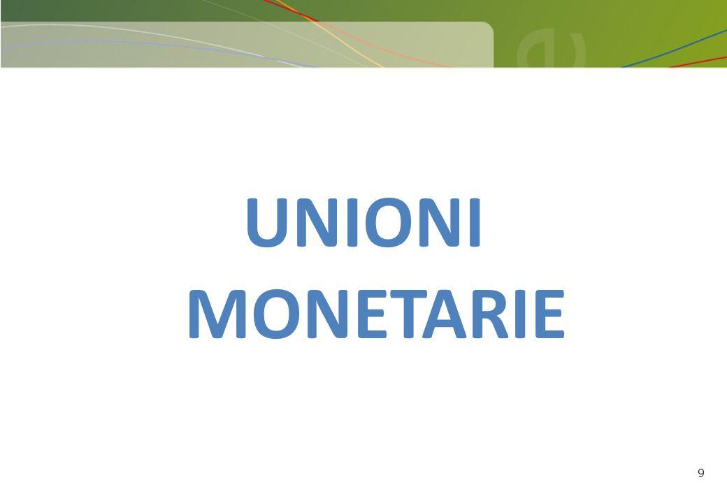 UNIONI MONETARIE