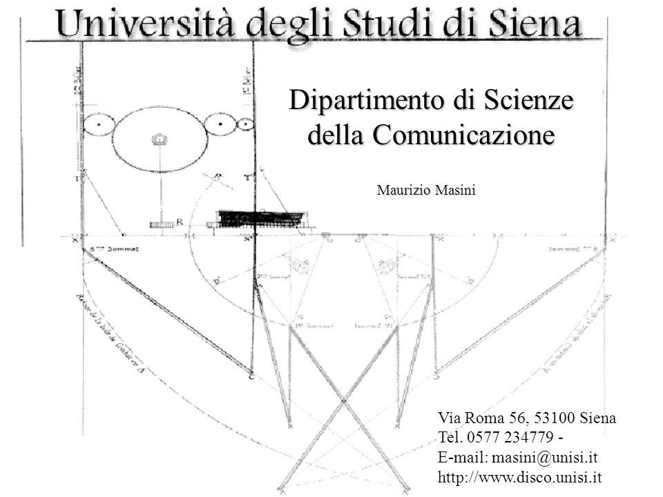 Dipartimento di Scienze della Comunicazione