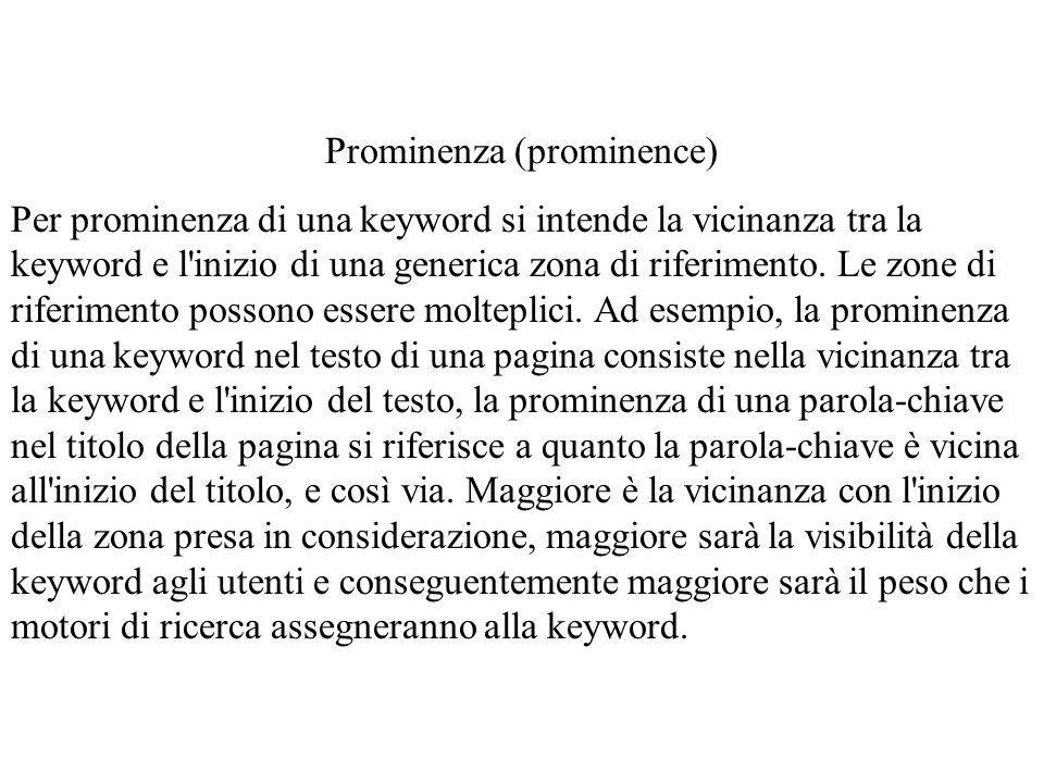 Prominenza (prominence)