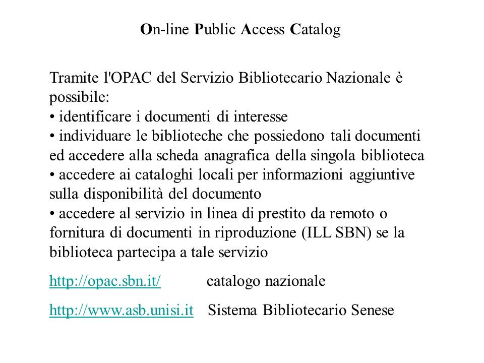 On-line Public Access Catalog
