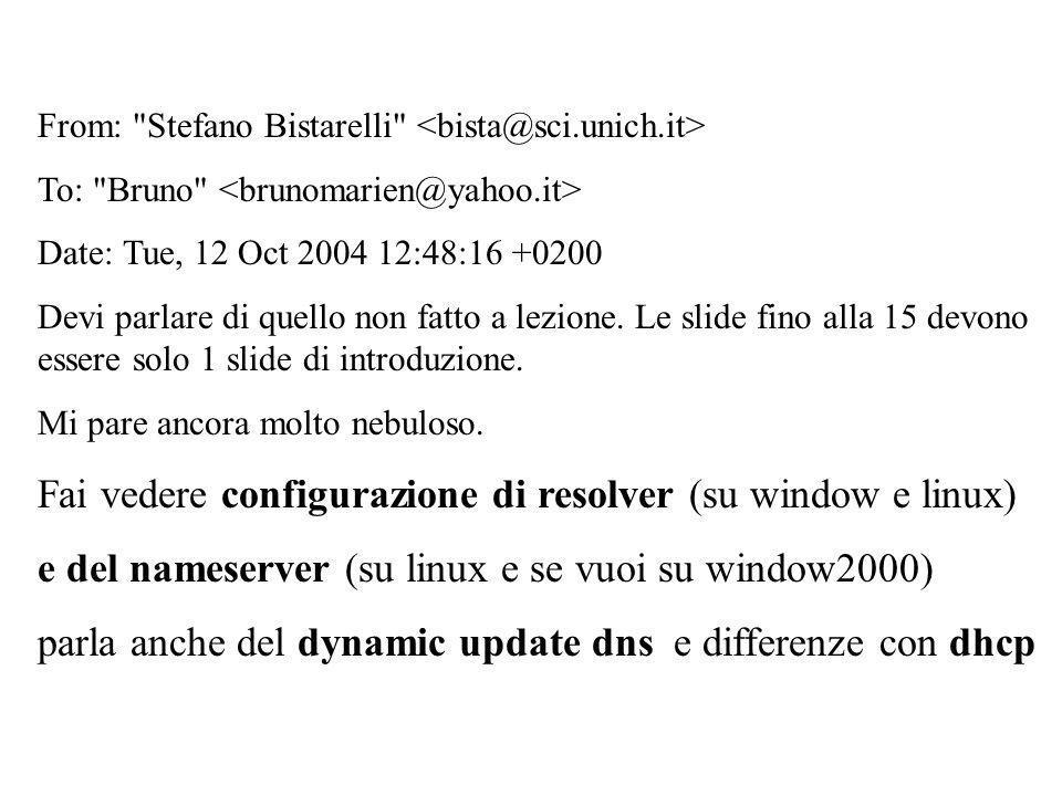 Fai vedere configurazione di resolver (su window e linux)