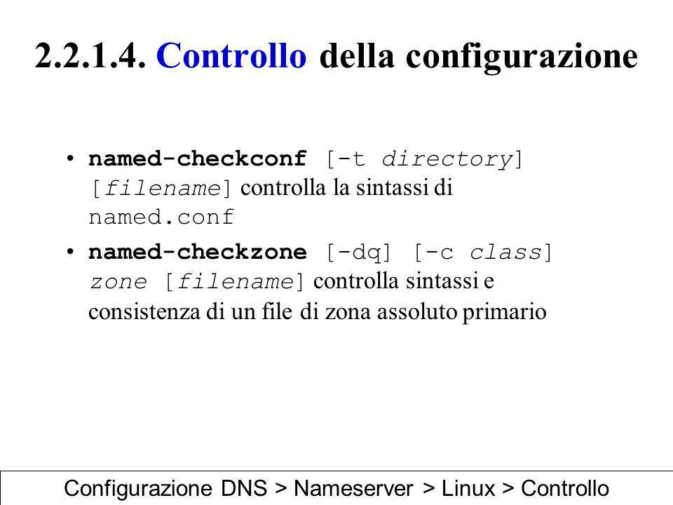 2.2.1.4. Controllo della configurazione