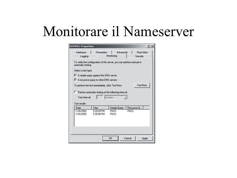 Monitorare il Nameserver