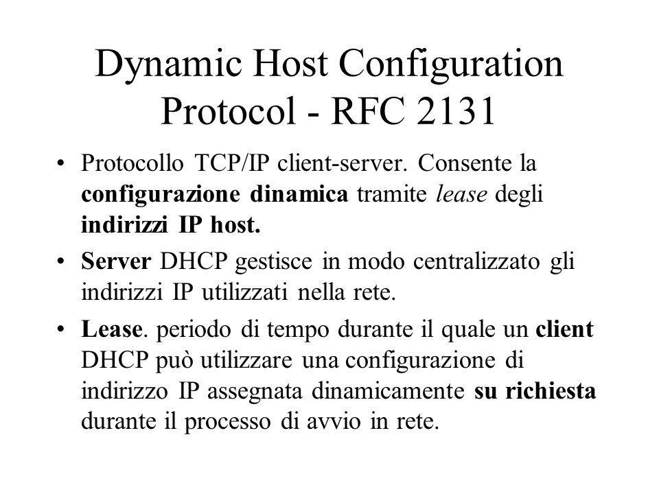 Dynamic Host Configuration Protocol - RFC 2131