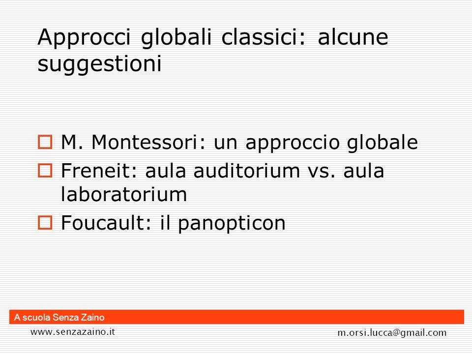 Approcci globali classici: alcune suggestioni