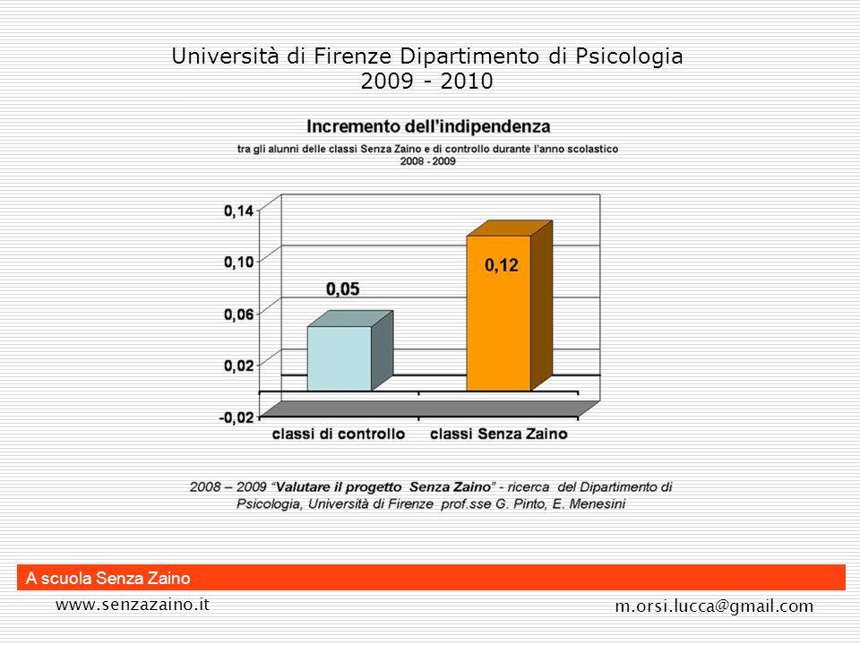 Università di Firenze Dipartimento di Psicologia