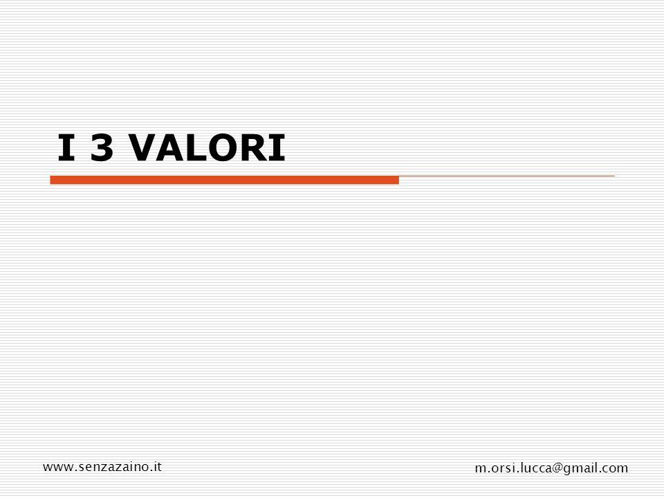 I 3 VALORI