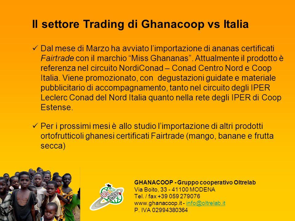 Il settore Trading di Ghanacoop vs Italia