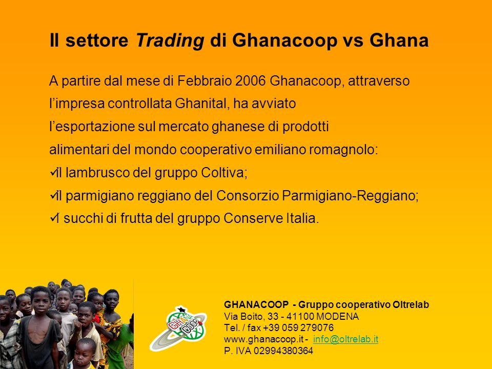 Il settore Trading di Ghanacoop vs Ghana