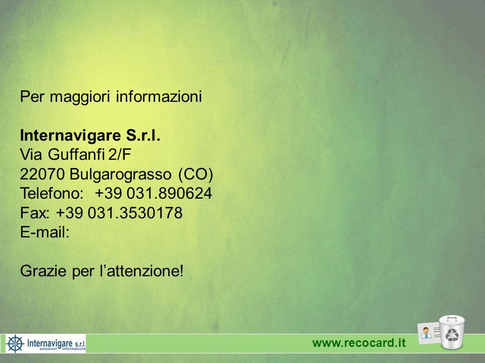 Per maggiori informazioni Internavigare S.r.l.