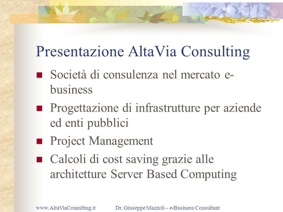 Presentazione AltaVia Consulting