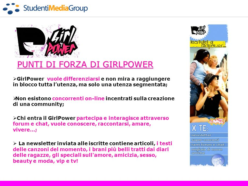 PUNTI DI FORZA DI GIRLPOWER