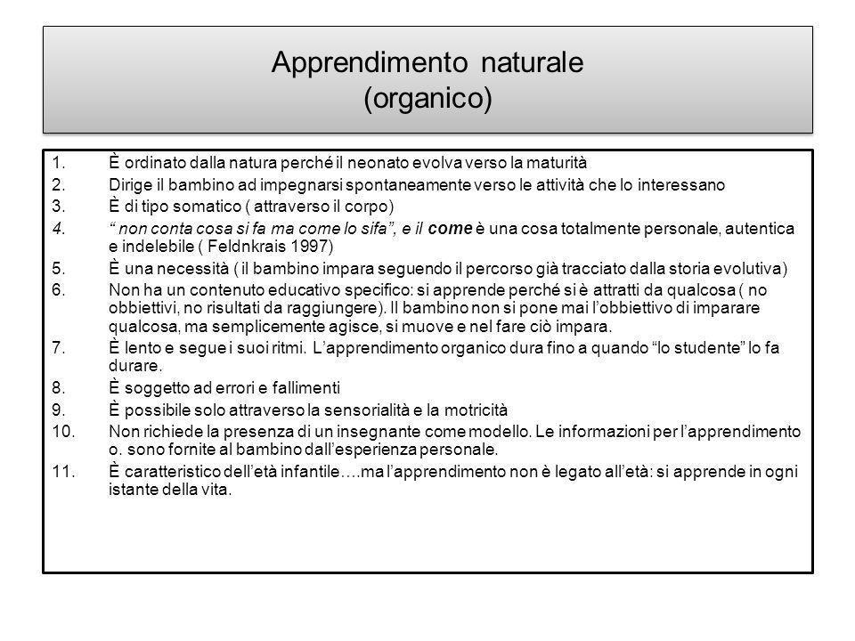 Apprendimento naturale (organico)