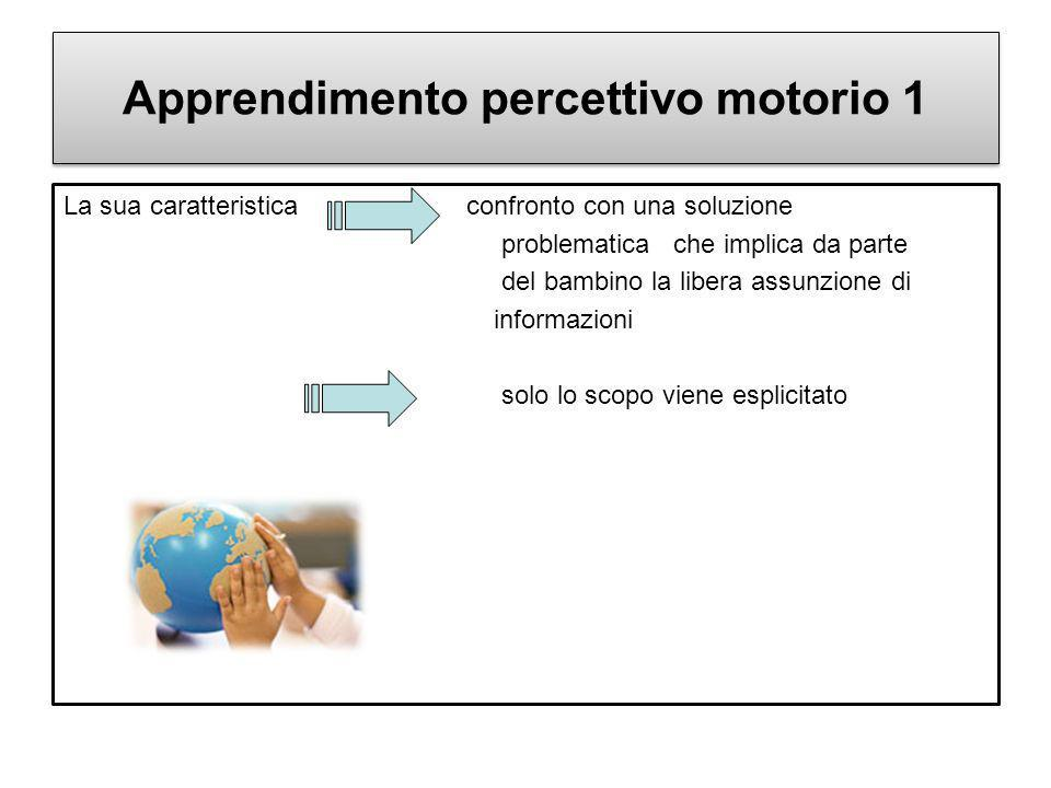 Apprendimento percettivo motorio 1