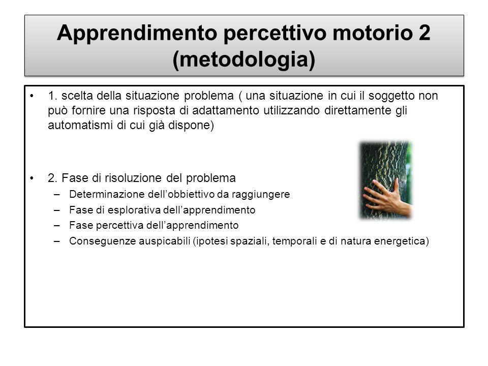 Apprendimento percettivo motorio 2 (metodologia)