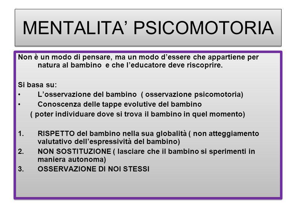 MENTALITA' PSICOMOTORIA
