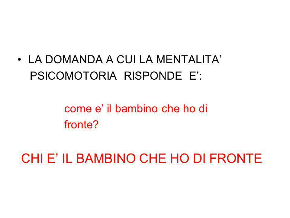 CHI E' IL BAMBINO CHE HO DI FRONTE