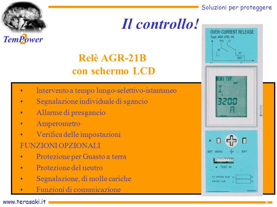 Il controllo! Relè AGR-21B con schermo LCD