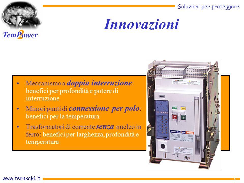 Innovazioni Meccanismo a doppia interruzione: benefici per profondità e potere di interruzione.