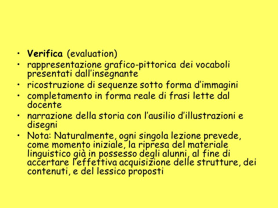 Verifica (evaluation)