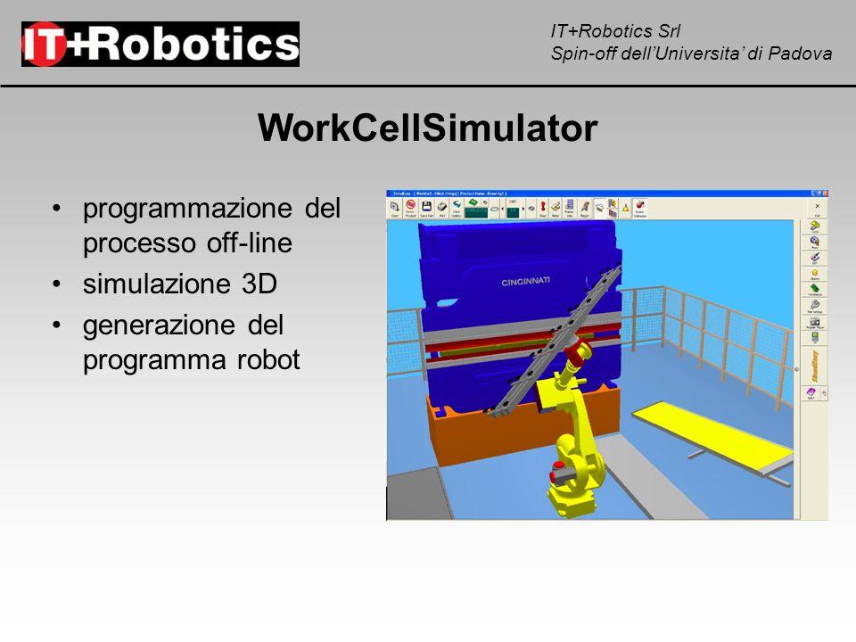 WorkCellSimulator programmazione del processo off-line simulazione 3D