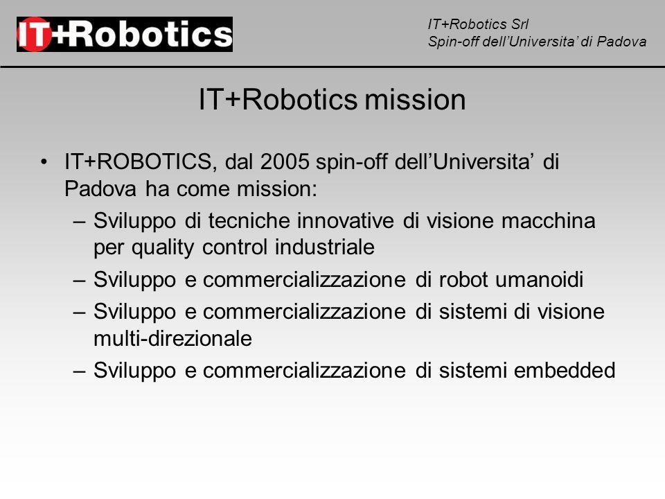 IT+Robotics missionIT+ROBOTICS, dal 2005 spin-off dell'Universita' di Padova ha come mission: