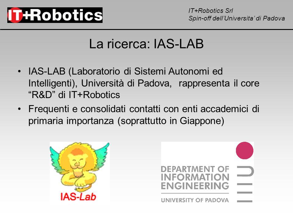 La ricerca: IAS-LABIAS-LAB (Laboratorio di Sistemi Autonomi ed Intelligenti), Università di Padova, rappresenta il core R&D di IT+Robotics.