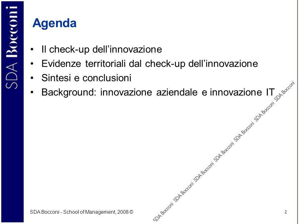 Agenda Il check-up dell'innovazione