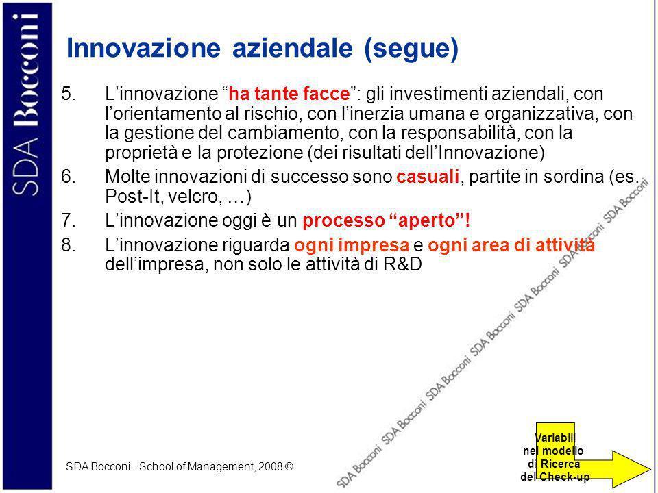 Innovazione aziendale (segue)