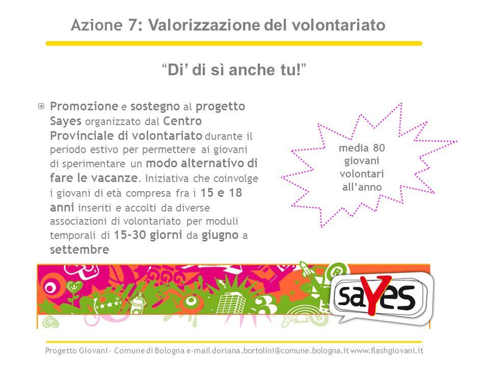 Azione 7: Valorizzazione del volontariato