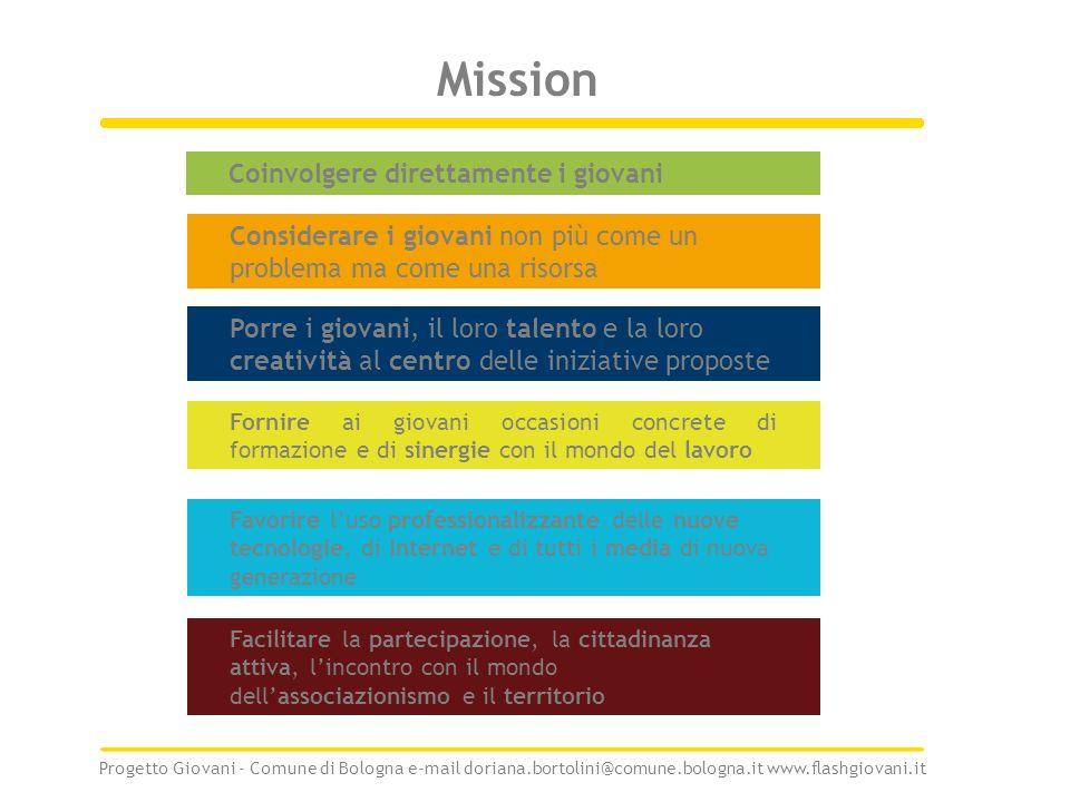 Mission Coinvolgere direttamente i giovani