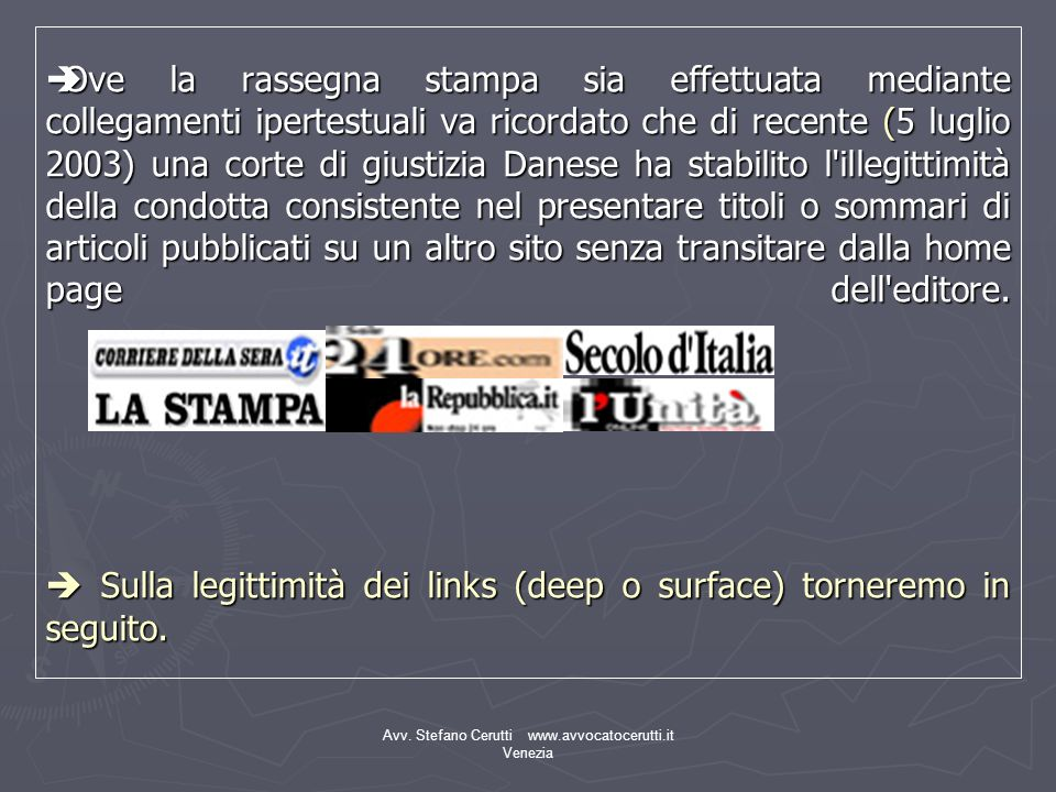 Avv. Stefano Cerutti www.avvocatocerutti.it Venezia